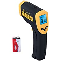 Etekcity Lasergrip 1080 Non-contact Digital Laser IR Infrared Thermometer, -50°C ~ 550°C ( -58°F~1022°F ), Instant Read Temperature Gun, Rubber Paint Technology, Yellow/Black
