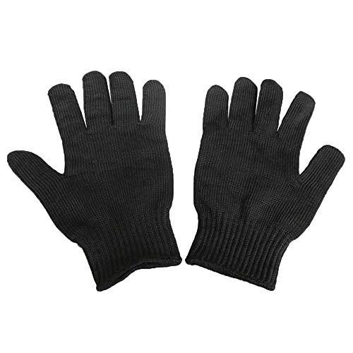 Cut-Proof-Handschuhe Professionellen Schutz Selbstverteidigung Handschuh 5-Klasse Draht Verstärkt Mehrzweck,Black-24cm