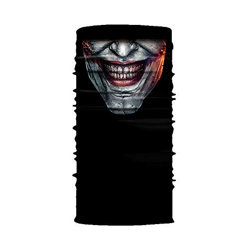 eiiu000333 Clown Halstuch Maske Schal Radfahren Motorrad Kopftuch Schlauchtuch KäLteschutz Gesichtsmaske Halloween Stirnband Sturmhaube Ski Snowboard Jagen Fahrrad Paintball
