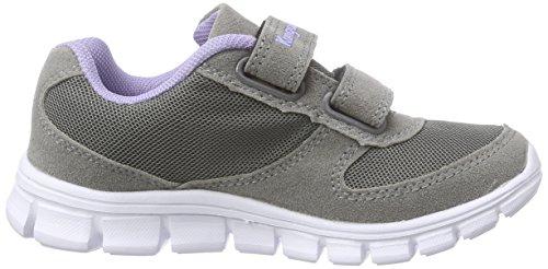 KangaROOS BlueKids 2082, Sneakers basses fille Gris - Grau (dk grey/lilac 265)