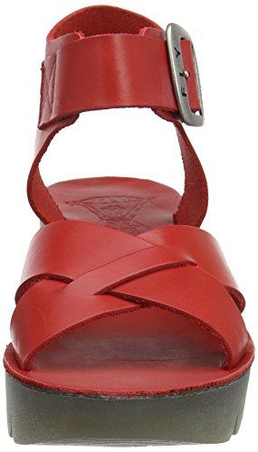 FLY London Yeri909, sandales compensées  Femme Rouge (Scarlet 002)