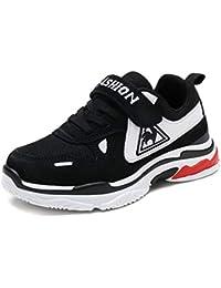 Zapatillas de Deporte para niños Zapatos Casuales con Velcro Niñas Niños Malla Transpirable Zapatos Deportivos al Aire Libre Moda para niños Negro Rosa Zapatillas Ligeras