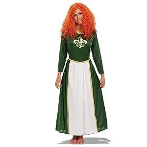 Carnival Toys - Disfraz princesa indomable en bolsa, talla única, color verde (83620)