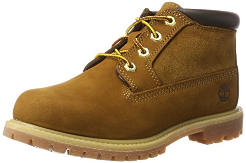 Timberland Damen Nellie Leather and Suede Non-Waterproof Chukka Boots, Braun (Rust), 38 EU -