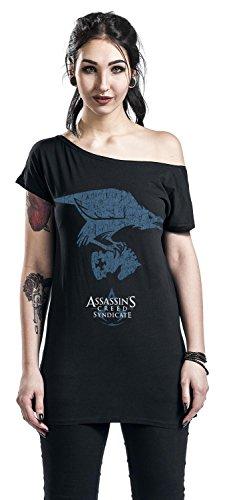 Assassin's Creed Raven T-shirt Femme noir Noir