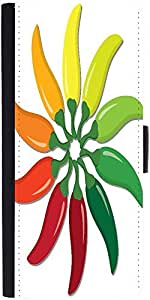 Snoogg Chilli Pepper Wheel In Vector Forma designer Protective Phone Flip Case Cover For Lg Nexus 5X