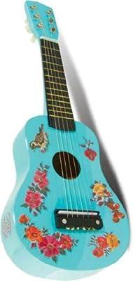 Vilac 8609 - Guitarra de juguete, diseño de flores, color azul claro [Importado de Francia] de Vilac