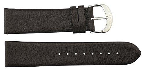 Moog Paris Braun Kalbsleder Uhrenarmband, Dornschließe, 22mm Ersatzband _ B22002