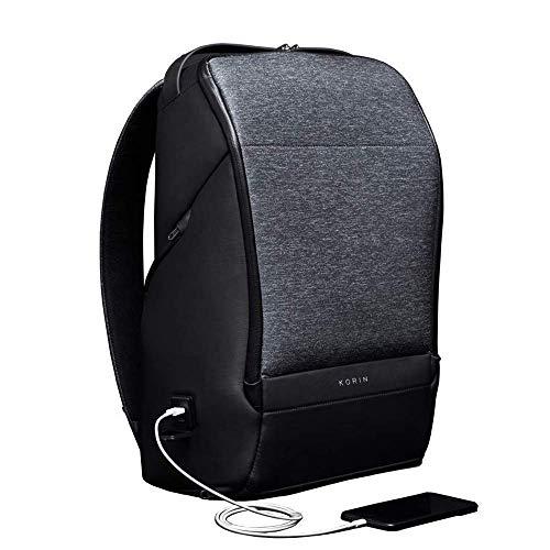 KORIN FlexPack Pro-Multifunktionale Flexibilität Anti-diebstahl Laptop Rucksack mit 2.0 USB Ladeanschluss, 15,6 Zoll Wasserdicht Business Reise Schule Notebook Rucksack für Herren Damen