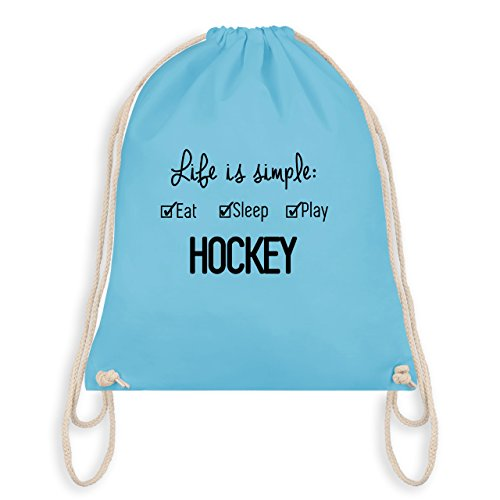 Eishockey - Life is simple Hockey - Unisize - Hellblau - WM110 - Turnbeutel & Gym Bag