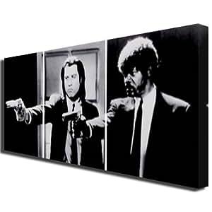 Box Prints 387 Reproduction artistique en triptyque sur toile Motif Pulp Fiction