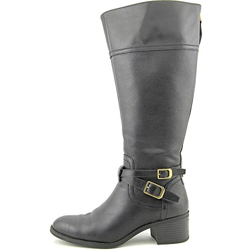Franco Sarto Lapis Wide Calf Cuir Botte Black