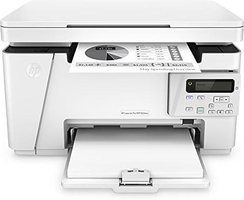 HP LaserJet Pro M26nw Laserdrucker Multifunktionsgerät (Drucker, Scanner, Kopierer, WLAN, LAN, HP ePrint, USB, 600 x 600 dpi) weiß