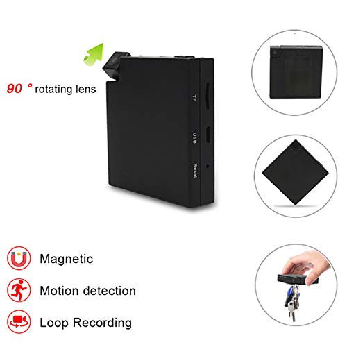 TONGTONG Motion Detection Mini DV Kamera mit 2000 mAh Battery Secret Nanny Camera Video Audio Recording Mini Camcorder (Motion-detection-kamera-batterie)
