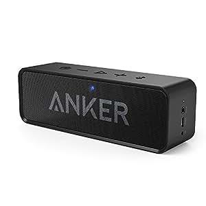 Anker SoundCore – Mobiler Bluetooth 4.0 Lautsprecher mit unglaublicher 24-Stunden-Akkulaufzeit und Dual-Treiber Wireless Speaker mit reinem Bass und eingebautem Mikrofon für iPhone, iPad, Samsung, Nexus, HTC und andere Android Geräte (Schwarz)