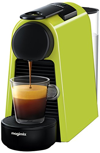 Nespresso Essenza Mini with Aeroccino Coffee Machine, Lime Green by Magimix Best Price and Cheapest