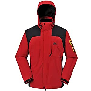 COX SWAIN TITANIUM Damen 2-Lagen Outdoor Multifunktionsjacke CYPRESS, Colour: Red/Black, Size: XL