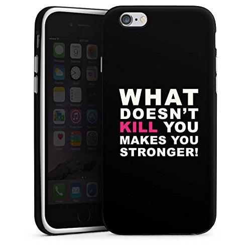Apple iPhone X Silikon Hülle Case Schutzhülle Crossfit Motivation Stärke Silikon Case schwarz / weiß