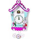 ZHGI Reloj de pared reloj de cuco Cuco madera maciza el salón de jardín muy creativo cartoon children's room el Bird Strike los gráficos de pared,C