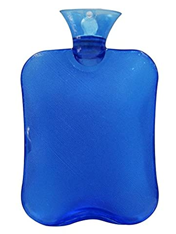 Naisidier Bouillotte Caoutchouc Naturel Bouillotte 2L Transparent Bleu pour
