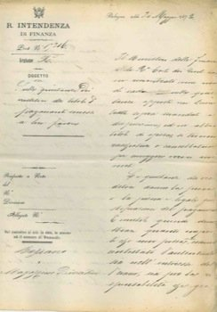 Attestato manoscritto, su carta intestata