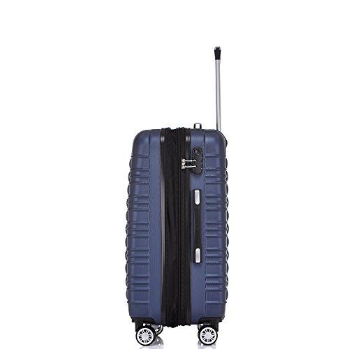 BEIBYE 2088 Zwillingsrollen Reisekoffer Koffer Trolleys Hartschale M-L-XL-Set in 13 Farben (Dunkelblau, XL) - 4