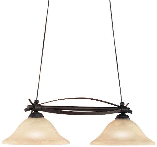 Honsel Leuchten 70532 - Lámpara de techo, cristal antiguo color alabastro, metal color marrón rojizo