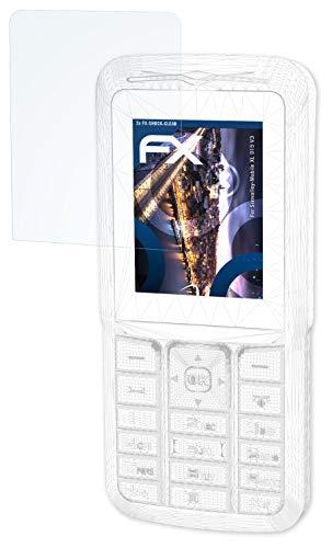 atFolix Schutzfolie kompatibel mit Simvalley-Mobile XL 915 V3 Panzerfolie, ultraklare & stoßdämpfende FX Folie (3X)