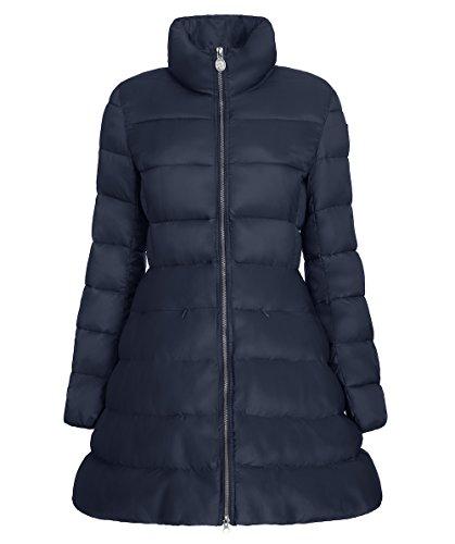 INVICTA Maxi Parka Cappuccio, Cappotto Donna, Dark Blue/ Dark Blue 460, XL