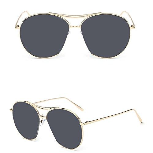 brille, Sonnenbrillen, Sonnenbrillen, UV-beständig Jungen und Mädchen, Eyeglass frame des Mädchens schöne 4-10 jährige Persönlichkeit, Marine film-gold Gestell schwarz Film (Filme Für 8 Jährige Mädchen)