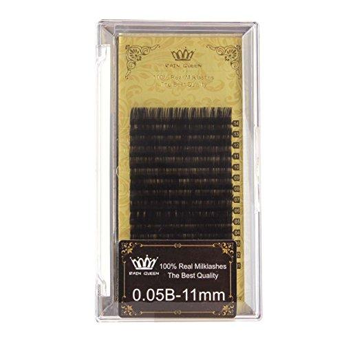 RAIN QUEEN 1Boîte Faux Cils Longs et Epais 14 Rang Noir Maquillage Motif 0.05 X 11mm B-Courbe