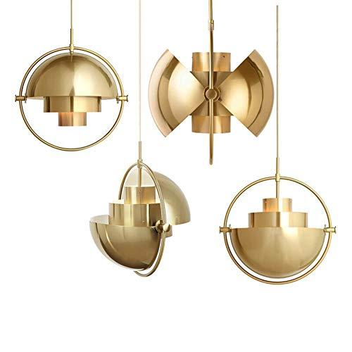 Innenraum-halogen-beleuchtung, (DIEJUE Kronleuchter Für Esszimmer Mit Eisen Moderne Verstellbare Pendelleuchte Aus Metall Retro Innenraum Deckenleuchte Wohnzimmer Küche Schlafzimmer, Gold)