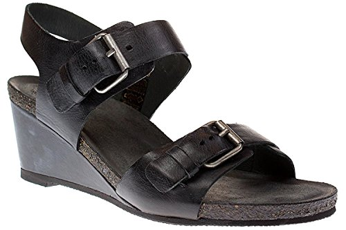 Ca Shott 17074 - Damen Schuhe Sandale Keilsandalette - 130-black-west, Größe:39 EU