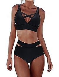 FeelinGirl Bikini Sets Damen Sexy Bademode Push Up Bikinis Badeanzug Zweiteiler Strand Swimwear Swimsuits Beachwear