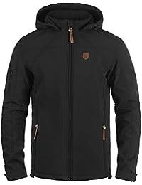 INDICODE Jonas Herren Softshell-Jacke Outdoor Übergangsjacke mit Kapuze aus winddichtem und hochwertigem Material
