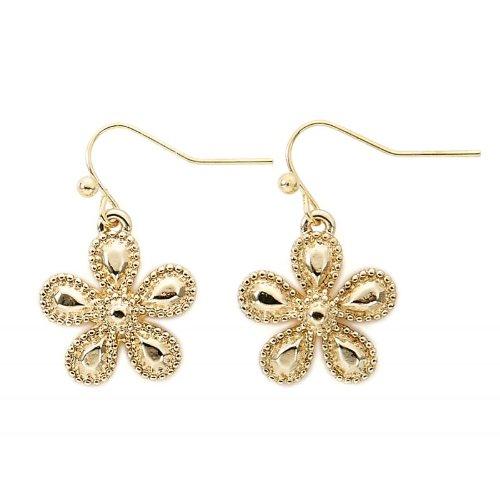 odeschmuck Ohrhänger Blume gold (Designer Modeschmuck Sale)