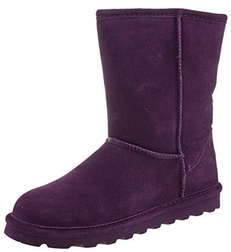 BEARPAW Womens Elle Short Winter Boot Plum Size 7 -