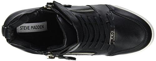Damen Schwarz Sneaker Keil Madden Steve qYx67p1w