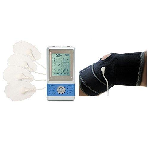 HealthmateForever 6 Modi tragbares Elektrotherapie-Gerät aus, Leg Cramps mit unserem Ischias Beinstütze Blau