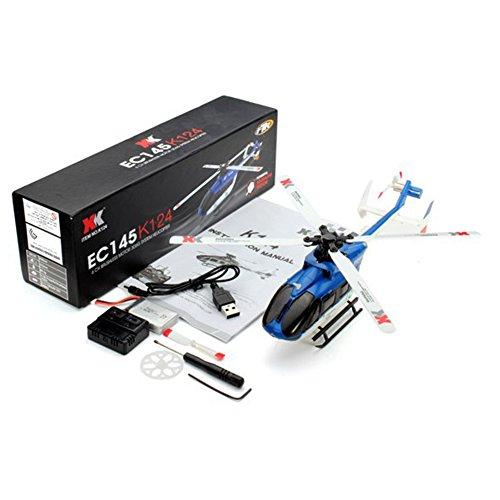 Lanlan modellino rc elicottero giocattolo elettrico per bambini ragazzi 6g sistema con telecomando, bnf