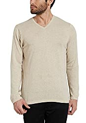 Spykar Mens Beige Slim Fit Tshirts (X-Large)