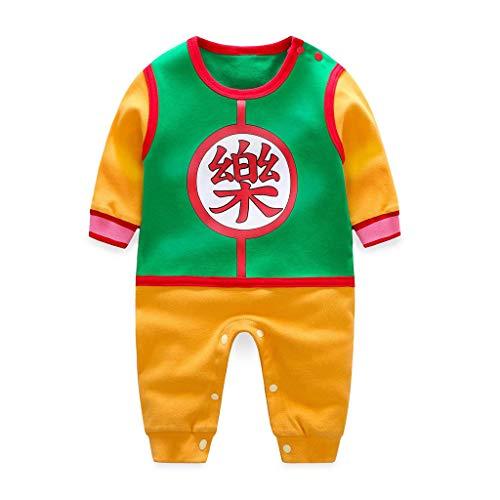 feiXIANG Neugeborenes Baby Spielanzug Cosplay Kostüm Junge Boy Overall niedlichen Chinesischer Stil Strampler (Mehrfarbig,59) -