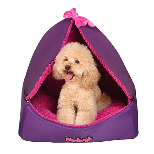 X_love letto per cani e gatti, cuccia, nido rimovibile e lavabile, quattro stagioni, animale domestico del letto della principessa, lettiera per gatti, materassino per l'invio, staccabile, nido a dupl