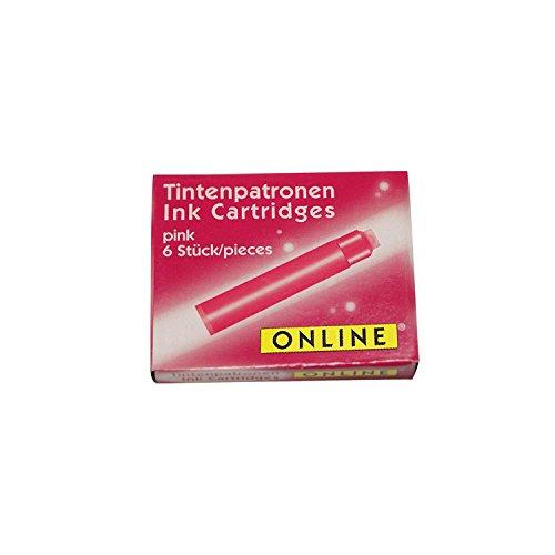 Online Schreibgeräte 17229/12 Tintenpatronen pink