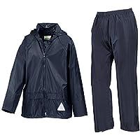 Risultato r095j Bambini pesante impermeabile giacca e pantaloni tuta