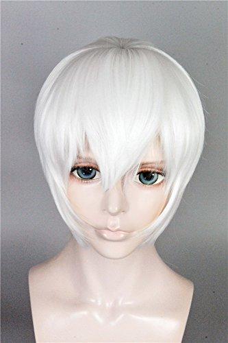 LanTing Cosplay Perücke NieR:Automata 9S White Perücke Corta Cosplay Party Fashion Anime Human Costume Full wigs Synthetic Haar Heat Resistant Fiber -