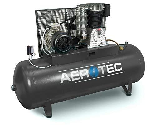 Aerotec - Compresor de aire comprimido (10 CV, 7,5 kW, 15 bar, 500 l, 400 V, compresor de pistón lubricado al aceite)