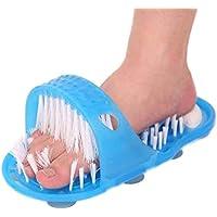 Ballylelly 1 UNIDS Ducha Pie Pies Limpiador Lavador Lavadora Pie Cuidado de la Salud Baño Hogar Piedra Masajeador Zapatillas Azul