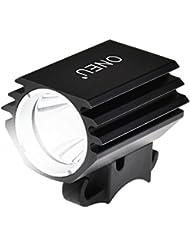 ONEU Fahrradbeleuchtung, Cree XM-L2 LED Fahrradlicht, 1800 Lm Ultra Hellen Wiederaufladbare Wasserdicht Sport Fahrrad Frontlichter mit Akku
