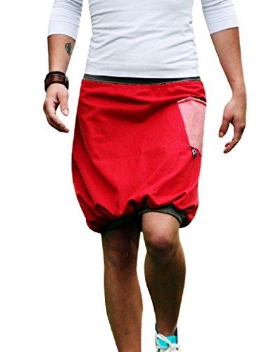 Ballonrock PAULIZ - roter Damen Ballonrock aus Jeans (L)